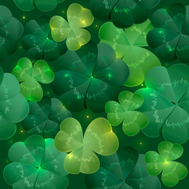 緑豊かな葉のクローバー Premiumベクター