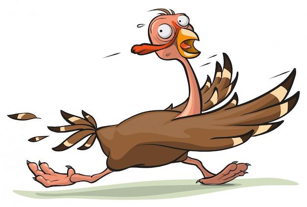 感謝祭の七面鳥の実行 Premiumベクター