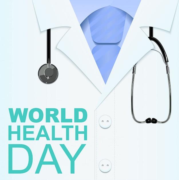 Всемирный день здоровья. текст для поздравительной открытки Premium векторы