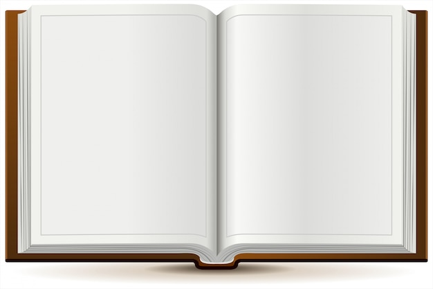 Открытая книга в твердом переплете Premium векторы