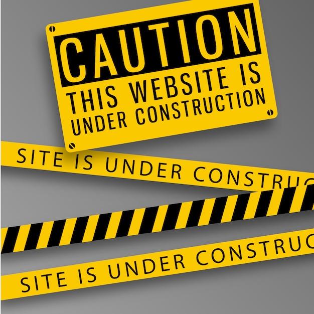 ウェブサイトの注意の背景 無料ベクター