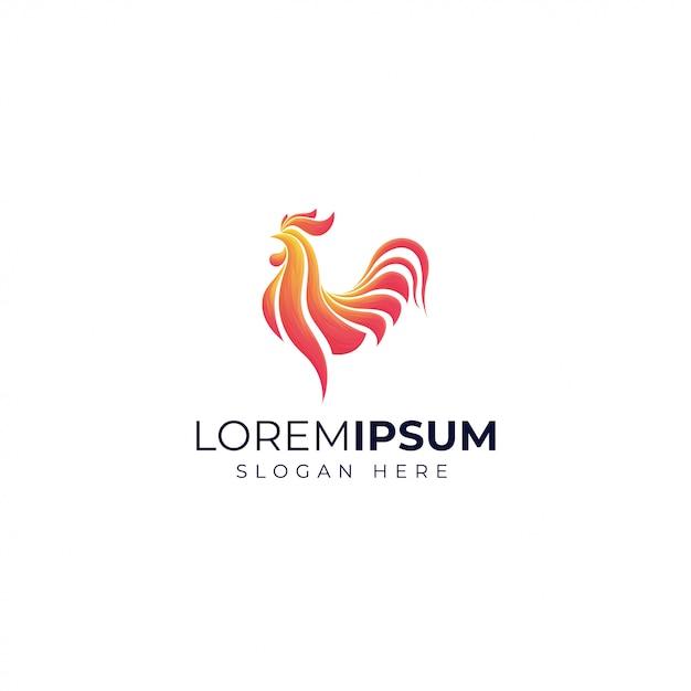 Шаблон логотипа градиента петуха Premium векторы