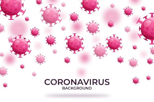ウイルス感染または細菌の概念の背景プレミアム Premiumベクター