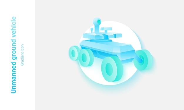 Концепция беспилотного наземного транспортного средства Premium векторы