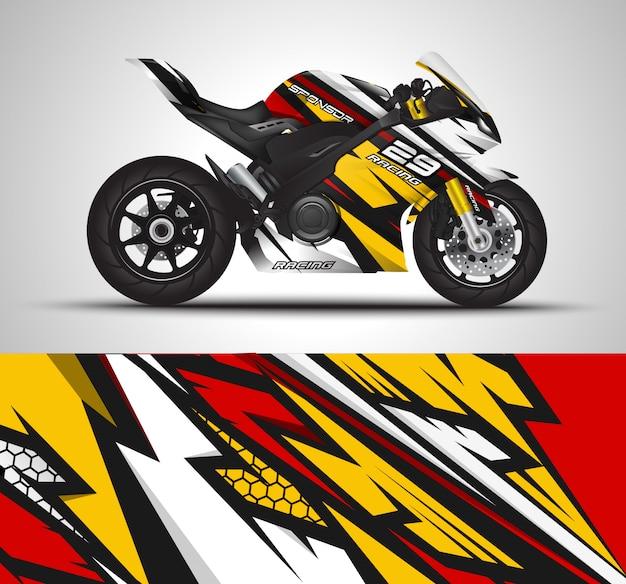 Гоночный спортивный велосипед обернуть наклейка и виниловые наклейки иллюстрации Premium векторы