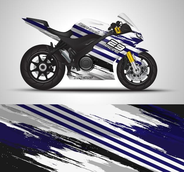 Мотоциклетная наклейка и виниловая наклейка Premium векторы