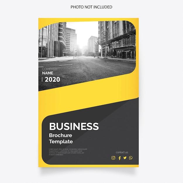現代のビジネスパンフレットの表紙 無料ベクター