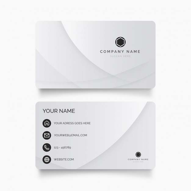 Современная визитная карточка с абстрактными формами Бесплатные векторы
