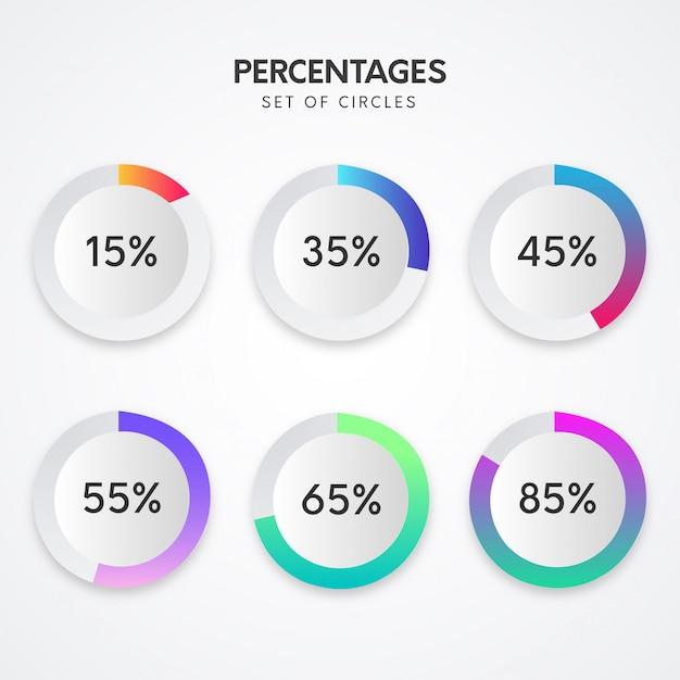 割合とインフォグラフィック 無料ベクター