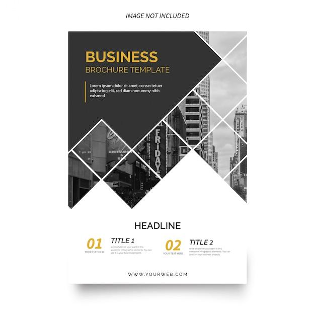 現代のビジネスパンフレットのテンプレート 無料ベクター