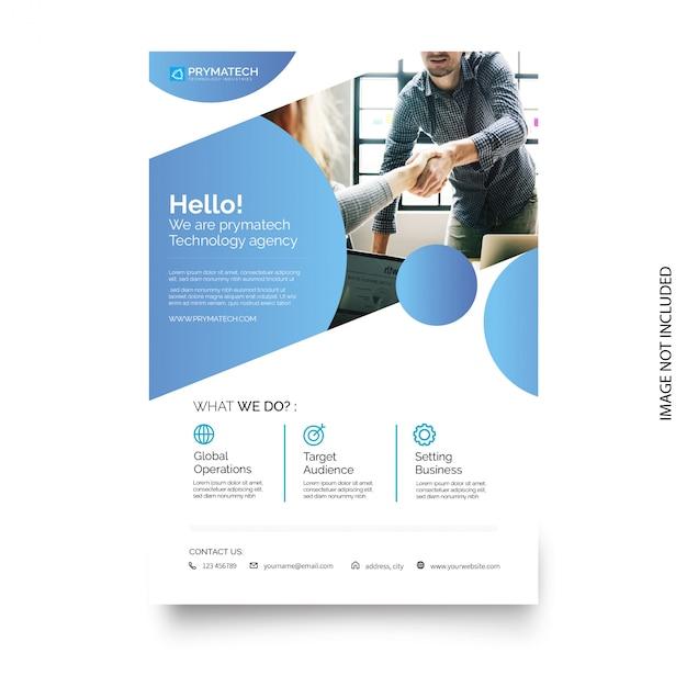 モダンなデザインのビジネスパンフレットのテンプレート 無料ベクター
