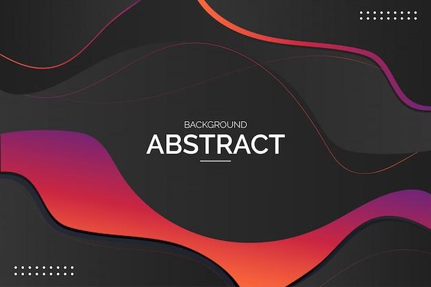 Современный абстрактный фон с красочными волнами Бесплатные векторы