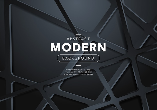 Черный абстрактный современный фон с фигурами Бесплатные векторы