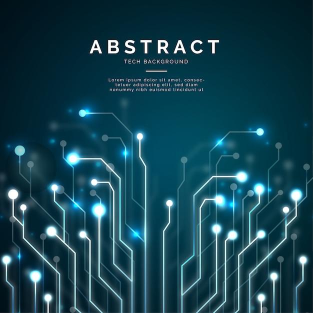 Современная абстрактная технология фон Бесплатные векторы