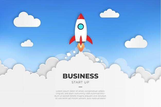 Современный бизнес начать фон Бесплатные векторы