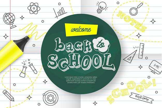 Добро пожаловать обратно в школу Бесплатные векторы