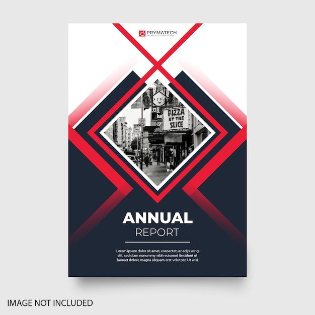 Современный годовой отчет с абстрактными формами Бесплатные векторы