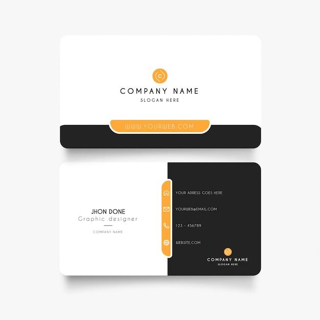 Современная визитка с минимальным Бесплатные векторы