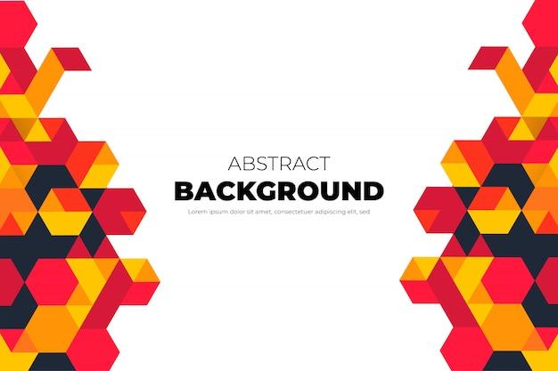 抽象的な形でモダンな幾何学的な背景 無料ベクター