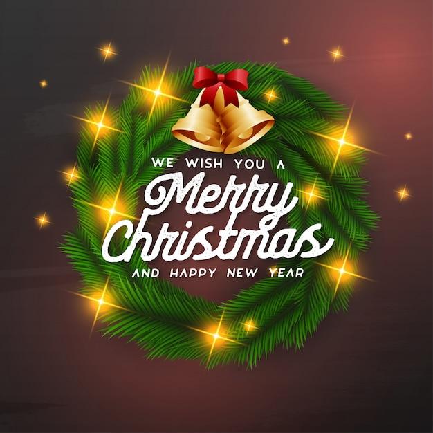 Желаем вам счастливого рождества Бесплатные векторы