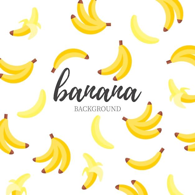 かわいいバナナの背景 無料ベクター