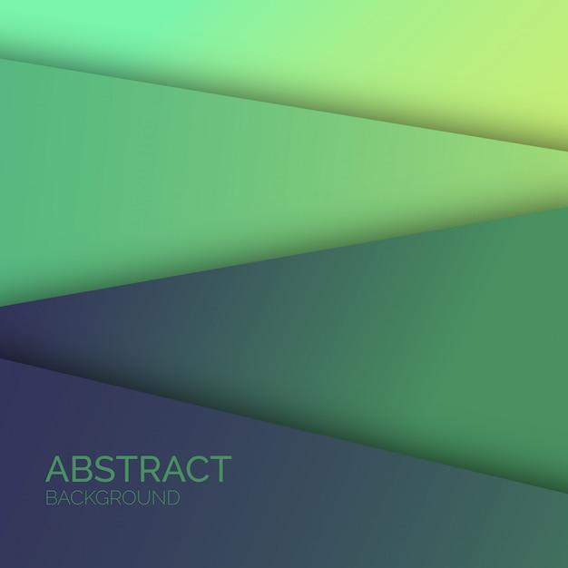 緑の抽象的な背景 無料ベクター