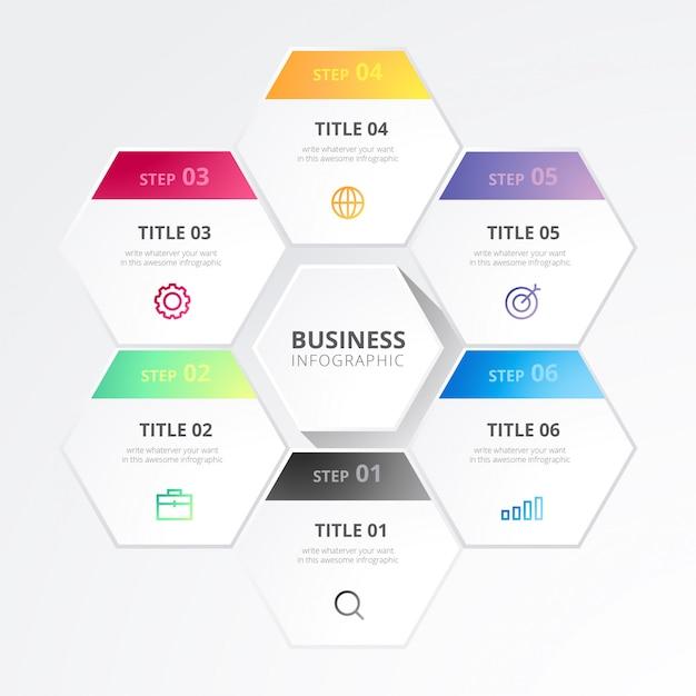 Современный бизнес-инфографика Бесплатные векторы