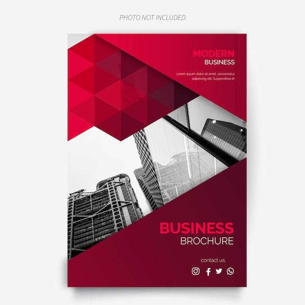 現代デザインのビジネスパンフレットテンプレート 無料ベクター
