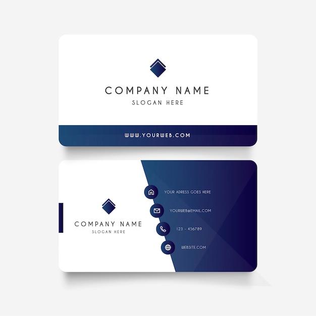 Современная визитная карточка с градиентными формами Бесплатные векторы