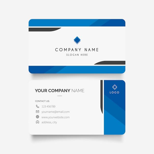 Визитная карточка с современным дизайном Бесплатные векторы