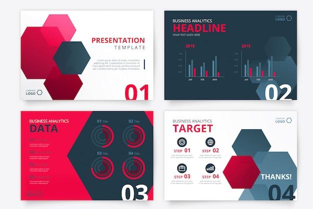 Современный шаблон презентации для бизнеса Бесплатные векторы