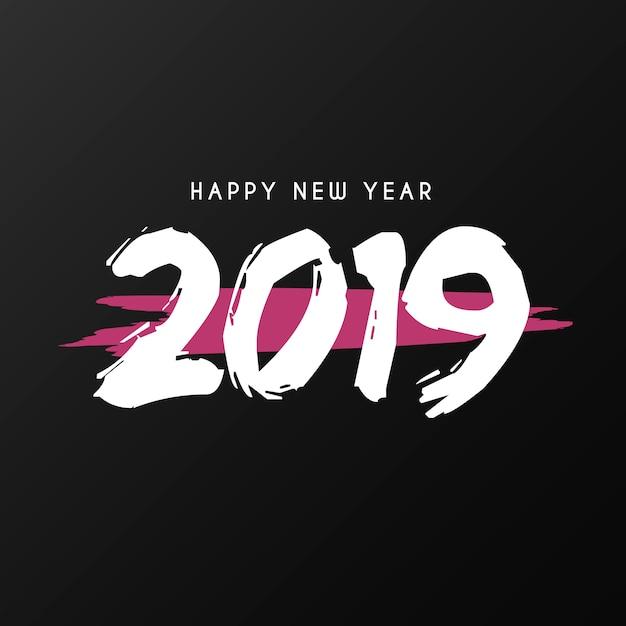 幸せな新年の背景とスプラッシュ 無料ベクター