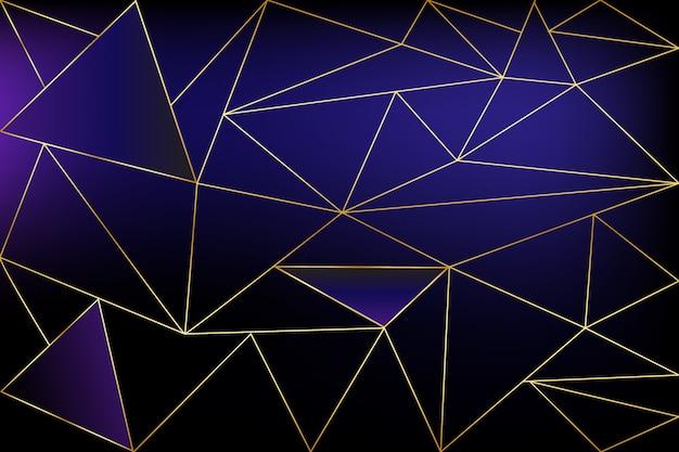 Черный и золотой концепции многоугольной фон. геометрическая линия золотисто-голубой узор для обоев и текстиля, вектор Premium векторы