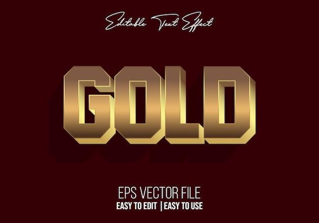 Золотой стиль текста с эффектом алфавита Premium векторы