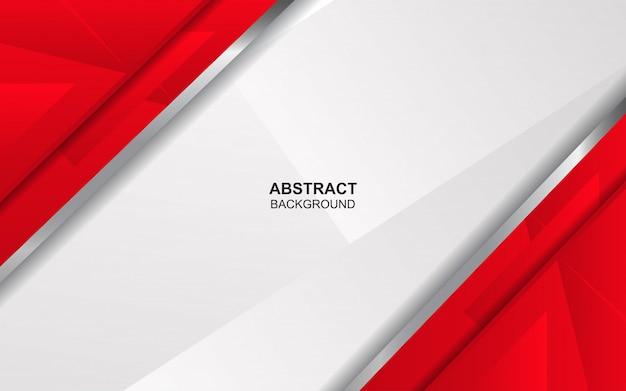 抽象的な赤と白のオーバーラップの背景 Premiumベクター