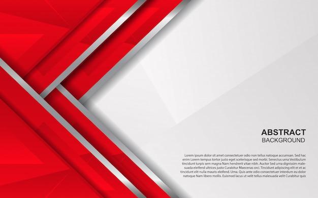 Абстрактный красный и белый фон перекрытия Premium векторы