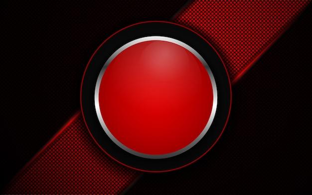 Абстрактный красный свет на темном фоне Premium векторы