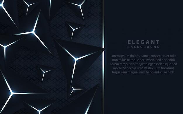三角形の組成を持つエレガントな暗い青色の背景 Premiumベクター