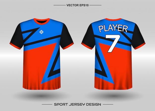 Шаблон дизайна спортивного трикотажа для футбольной команды Premium векторы