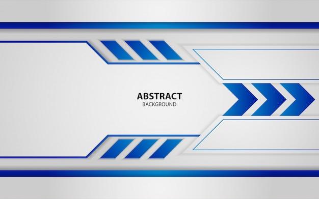 抽象的な青と白の重複レイヤーの背景 Premiumベクター