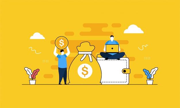 財務会計バナー Premiumベクター