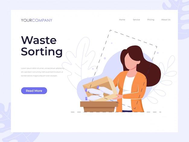 廃棄物選別ランディングページ Premiumベクター