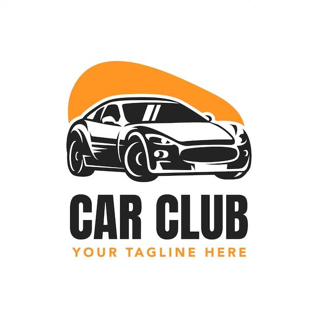 車クラブバッジロゴデザイン Premiumベクター