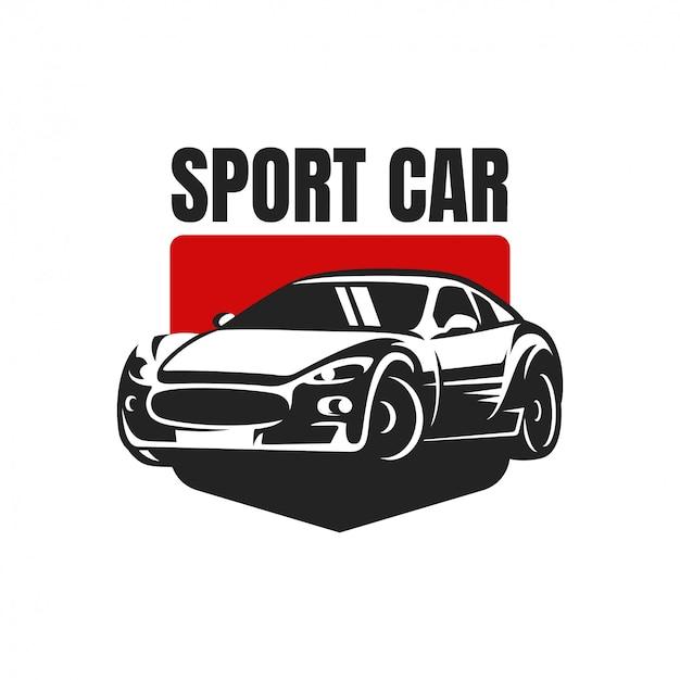 スポーツカーロゴバッジ Premiumベクター