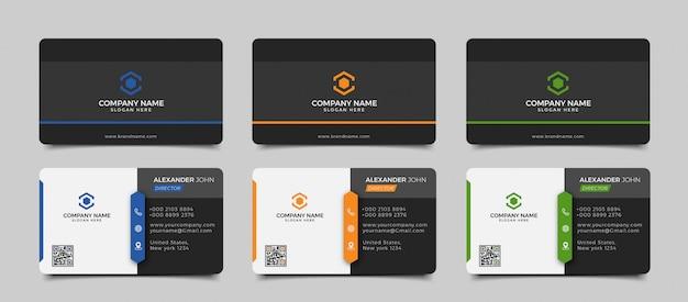 Современный креативный и чистый шаблон визитной карточки Premium векторы
