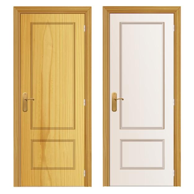 Две деревянные двери фон Бесплатные векторы