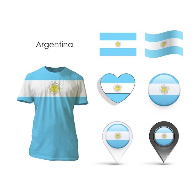 要素コレクションアルゼンチンデザイン 無料ベクター
