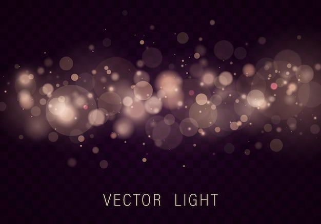 イエローホワイトゴールドライト抽象的な光るボケライト。 Premiumベクター
