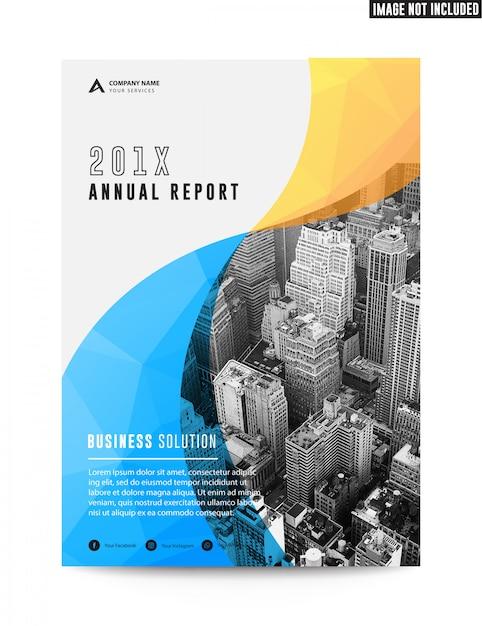 Чистый плоский корпоративный бизнес брошюра листовка годовой отчет Premium векторы