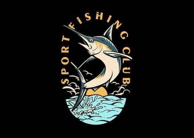 Клуб спортивной рыбалки Premium векторы